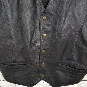 Wilsons Leather Jackets & Coats - Wilsons Black Leather Vest Medium